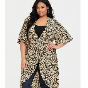 NWT Torrid 4X 🐆 Leopard Kimono